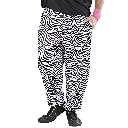 Widmann - Erwachsenenkostüm 80er Jahre Hose in Zebramuster