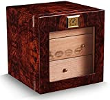 JIAWYJ XIAOJUAN Caja de Humor de cigarro Brillante Cedar Caja de Cigarrillo Caja de Cigarrillo Higrómetro Higrómetro Caja de cigarros Humidores for cigarros Caja Decorativa (Color: Estilo Dos)