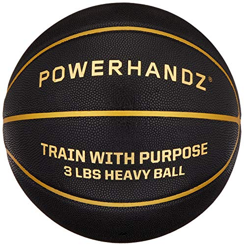 POWERHANDZ Weighted Training Basketball for Improving Ball Handling, 3-Pounds