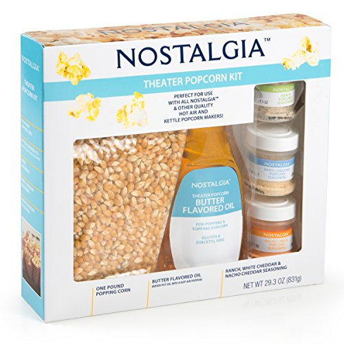Product Image 2: Nostalgia KPK400 Hot Air & Kettle Kit, 3 Seasonings, Oil, Popcorn Kernels, Pack of 1