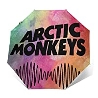 Arctic Monkeys アークティック・モンキーズ 折りたたみ傘 日傘 ナノテクノロジー 超撥水 傘 雨具 片手操作 ワンタッチ 自動開閉 高強度 台風対応 Uvカット 大きい 収納ポーチ付