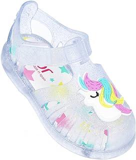 Igor Tobby Unicornio Blanco (Transparent Glitter) PVC Infantil Gelatinas Sandalias