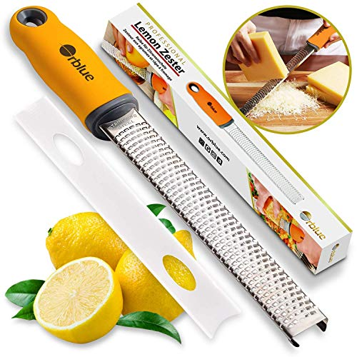 Orblue Mano rallador y rallador para pelar cítricos, Especias y rallar Queso