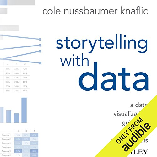 Storytelling with Data     A Data Visualization Guide for Business Professionals              By:                                                                                                                                 Cole Nussbaumer Knaflic                               Narrated by:                                                                                                                                 Cole Nussbaumer Knaflic                      Length: 5 hrs and 43 mins     69 ratings     Overall 4.2
