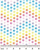 Fat Quarter Star Bright bunte Sterne 100% Baumwolle