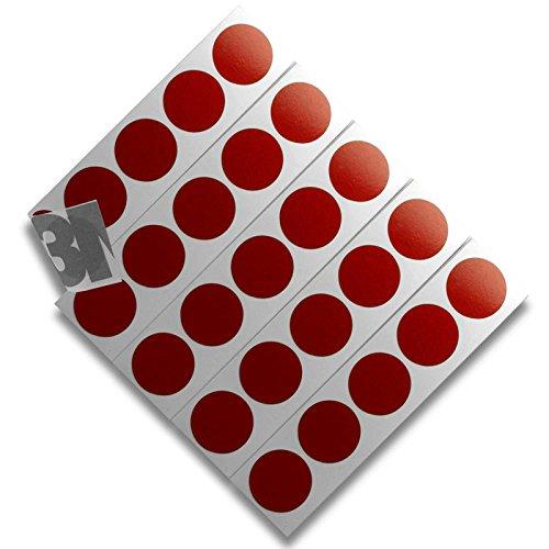 DonDo 3M 610C Reflektierendes Klebeband Reflexfolie Reflektorfolie Geocaching Punkte Reflektoren Nachtcache selbstklebend Rot D20mm