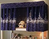 yjzq - tenda oscurante a tema parigi per casetta e camera da letto senza periferia, per dormitorio, camera dei bambini