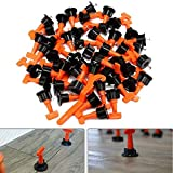MTR HLZS-50Pcs Tile Leveling System Kit 1.6mm Space Reuse Wall Floor Clip Leveler Ceramic 3-15mm Thickness Construction Tools for Color Orange