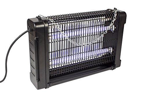 Eurosell 16W Premium Insekten Abwehr - Profi Insektenvernichter - Mosquito Stopp Stechmücken Mücken Fliegen Lichtfalle Licht Falle UV-A UVA mit Schalter + Auffangbehälter + Kette zum aufhängen (Big)