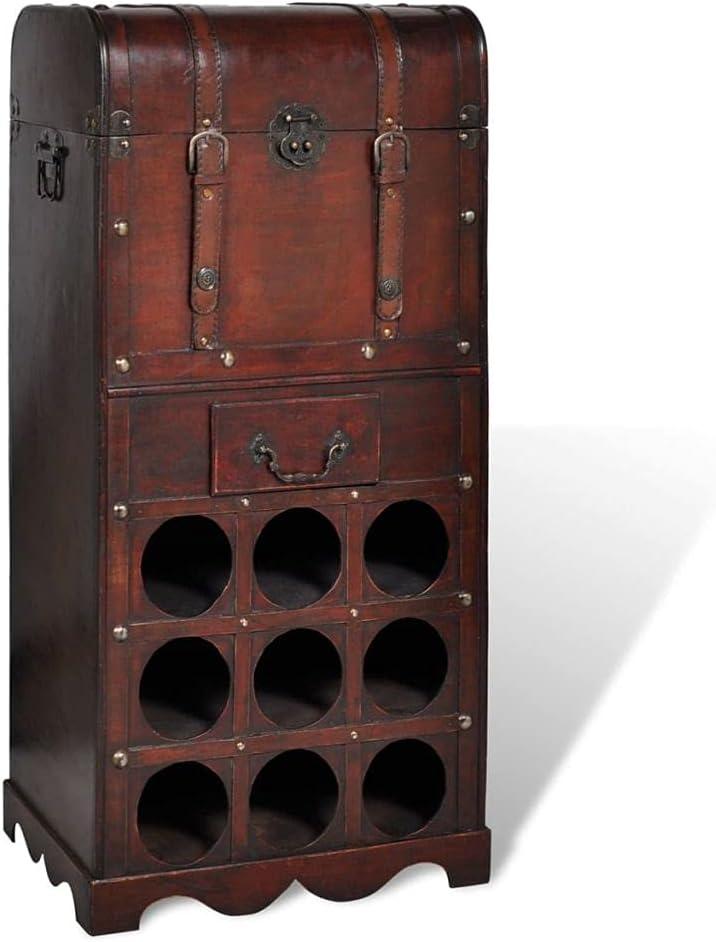 Warmliving Bar Cabinet Wine Rack Financial sales sale Now on sale Free Standing Wooden Floor