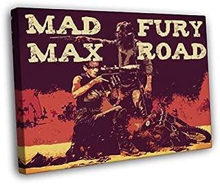Mad Max Fury Road Awesome Vintage Retro Pop Art Painting Furiosa Movie 30x20 Framed Canvas Print