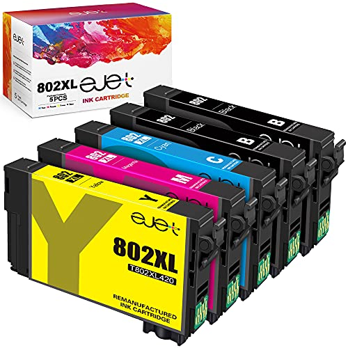 ejet Remanufactured Ink Cartridge Replacement for Epson 802XL 802...