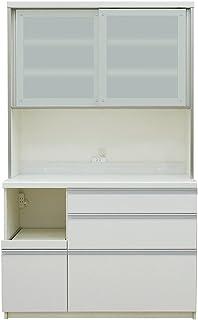 パモウナ 食器棚LF プレーンホワイト 幅120×高さ198×奥行45 日本製 LF-S1200R