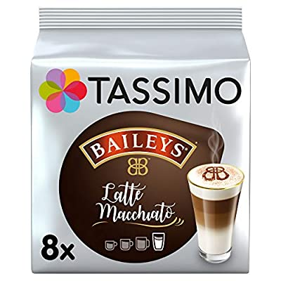 Tassimo Latte Machiatto Baileys Coffee Capsules, Pack of 5 (Total 8 Pods, 40 Servings)