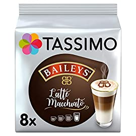 Tassimo Baileys Latte Macchiato Coffee Pods (Pack of 5, Total 40 Coffee Capsules)
