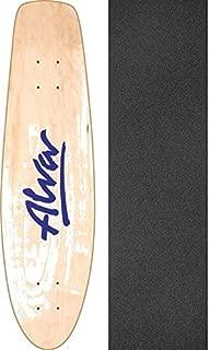 Alva Skateboards 1977 Twilight Reissue Natural/Twilight Blue Old School Skateboard Deck - 7.75