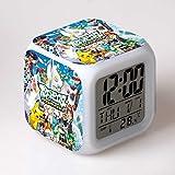 Réveil numérique, Contains Pokemon Theme Réveil Cartoon Anime Night Light Clock...