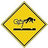 Apalis Wandtattoo No.62 Achtung! Sport Fahrrad Zeichen Achtung Piktogramm Sport