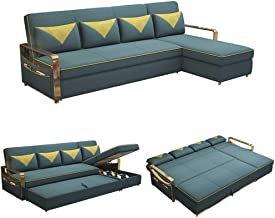 3 in 1 Compact Sofa Couch Sectional Futon Sofa Bed with USB Charging Port, Modern L-Shaped Corner Sleeper Couch, Folding L...