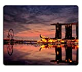 Marina Bay Sands Hotel Singapore Mouse Pads Customized Made to Order Support Ready 9 7/8 Inch (250mm) X 7 7/8 Inch (200mm) X 1/16 Inch (2mm) Eco Friendly Cloth with Neoprene Rubber Liil Mouse Pad Desktop Mousepad Laptop Mousepads Comfortable Computer Mouse Mat Cute Gaming Mouse pad