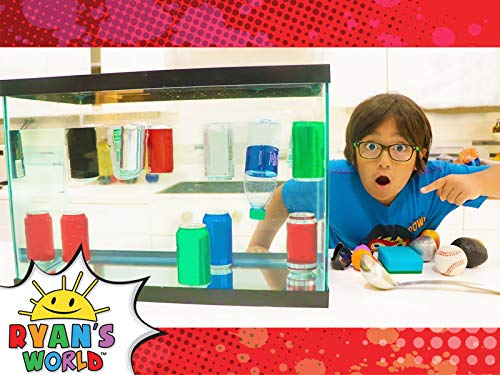 Ryan's Sink or Float Experiments for Kids!