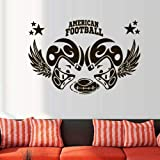 stickers muraux chambre Casque Sport Rugby Football américain Jouer homme Ballon Rugby Enfants