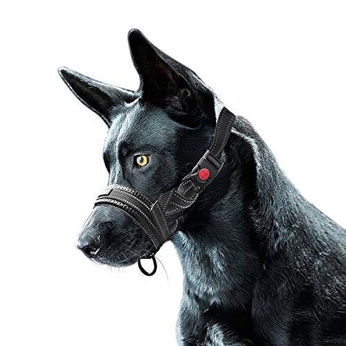 Bozal de Nylon para Perros, 2 Paquetes Ajustable Lazo Bloqueo de Seguridad...