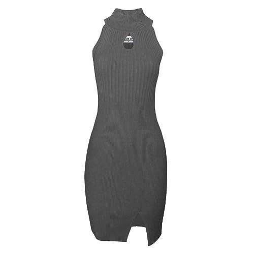 e6bcf2881f72 TAM WARE Womens BodyCon Sweater Halter Dress