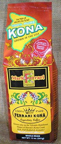 100% Pure Kona Coffee-Whole Bean, 12oz Bag