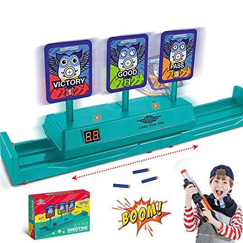 Running Shooting Target for Nerf Guns Toys, Electric Scoring Auto Reset Moving Targets for Elite Digital Nerf Game Best Gift for Boys, Kids