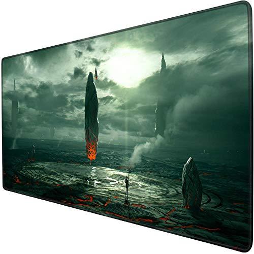 mauspad gaming xxl Schwimmender Stein Magic Array Game Expansion Mauspad Übergroße xxl 900x400 Schreibtischmatte Rutschfest Wasserdicht