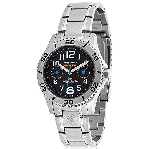 TIME FORCE TF-4131B01M Reloj para Chico, Multifunción, Selección Española