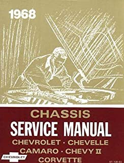 1968 CHEVROLET REPAIR SHOP & SERVICE MANUAL - INCLUDES: Chevrolet Biscayne, Bel Air, Impala, Caprice, Chevelle, 300, Deluxe, Malibu, Concours, Estate, SS-396, Chevy II, Nova, Camaro, RS, SS, Z-28, and Corvette 68