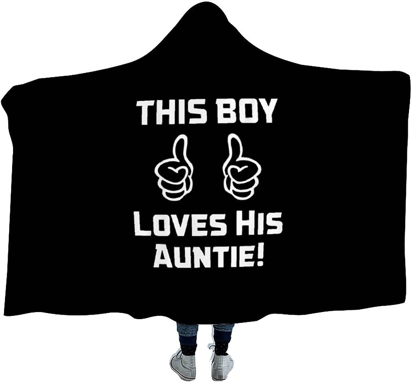This Boy Loves Portland Mall His Auntie Wearable Cloak Soft 40% OFF Cheap Sale Hooded fo Blanket