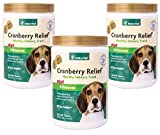 NaturVet 360-Count Cranberry Relief Plus Echinacea Soft Chews for Dogs (3 Jars with 120 Chews Each)