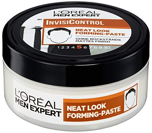 L'Oréal Men Expert InvisiControl Neat Look Forming Paste, für gepflegte & natürliche Styles, nach Belieben modellierbar ohne zu verkleben, 150ml