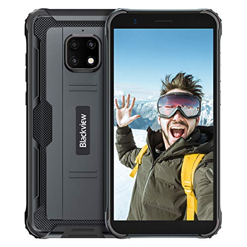 Blackview BV4900pro Móvil Libre Resistente,Pantalla 5.7,4GB RAM 64GB ROM 128GB Expandible,Movil Irrompible Carga Inversa 5580mAh Batería,Android 10 Movil Antigolpe,Impermeable Movil,NFC,GPS,Dual SIM