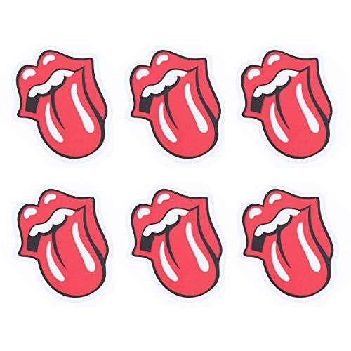 Possbay 6pcs Auto Motorrad Aufkleber Sticker Modisch Mund Zunge Dekoration
