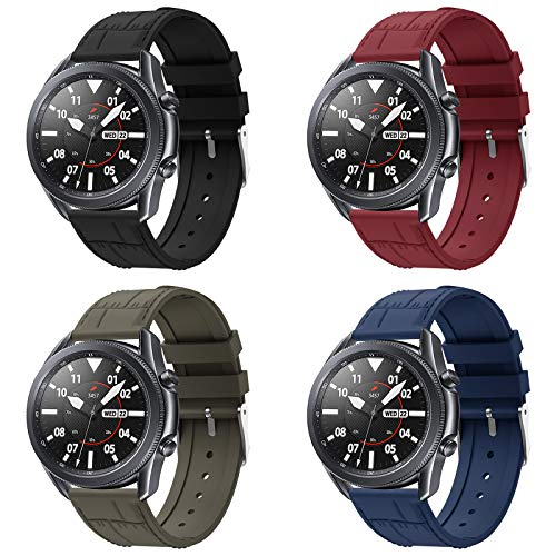 Sycreek Compatibile per Samsung Gear S3 Frontier Silicone Galaxy Watch 46mm Bracciale 22mm Cinturino Sportivo Bracciale Sostitutivo per Galaxy Watch 3 45mm/Gear S3 Classic