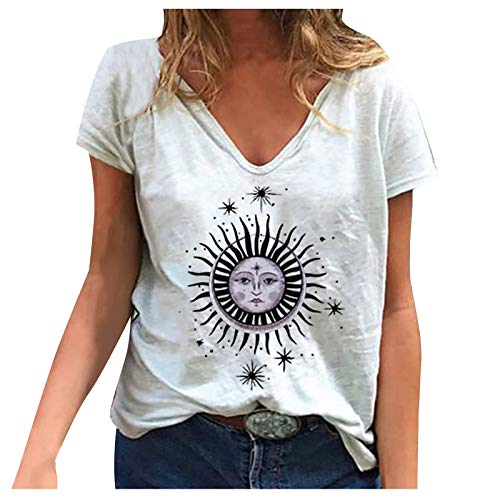 Dosoop Graphic T-Shirt for Women Lo…