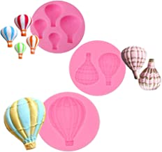 Palksky Cake decoration fondant mold set- Hot Air Balloon Design for chocolate candy baking Pastry Cookie Sugar Craft (Set of 3)