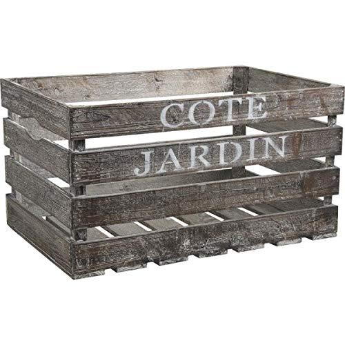 Inconnu Grande Caisse de Rangement en Bois Côté Jardin