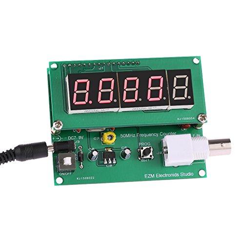 KKmoon Frequenzmesser Frequenzzähler Hohe Empfindlichkeit【1 Hz-50MHz Zähler Mess Tester Modul 7V-9V 50mA】