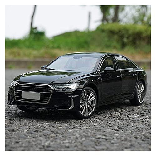 Modelos de Autos, 1/18 para A6 para 2019 A6L 2019 Diecast Car Vehicle Choy Boy Collection Black White Gold Casting Modelo de Coche para niños Boys Girls Regalo, YLLLLY-6686 (Color : Black)