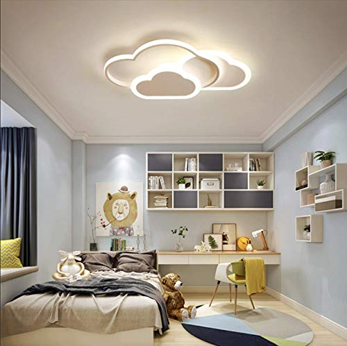 GUANSHAN 3D Deckenleuchte Led Kreative Stereoskopische Wolken Deckenleuchte Beleuchtung Für Jungen Mädchen Schlafzimmer Kindergarten, Warmes Weißes Licht, 32 W