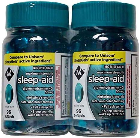 Member's Mark Maximum Strength Sleep Aid - 2/96 SoftGels - Total 192