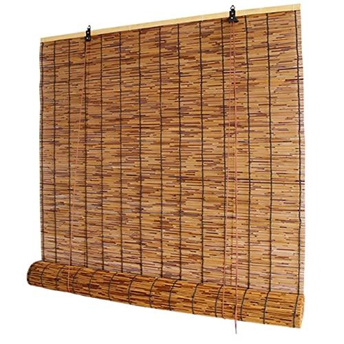 Mingyu Persianas enrollables de bambú, persianas enrollables de caña, Cortinas Retro, Transpirables, Impermeables, ecológicas, a Prueba de Polvo, persianas Opacas (100x160cm = 39.4x62.9in)