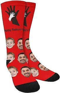 Artsadd, Calcetines divertidos personalizados, calcetines personalizados para padres e hijos, con foto impresa regalos únicos para hombres y mujeres