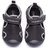 Escarpines Deportes acuáticos Zapatos de Agua Sandalias de vestir Unisex-Niños(Dark Negro,25EU)