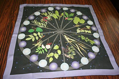 Pure Silk Altar Cloth or Tarot Cloth - Celtic Tree Calendar